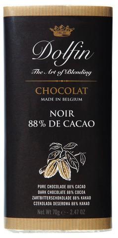 Dolfin Noir 88% Schokolade 70g Tafel
